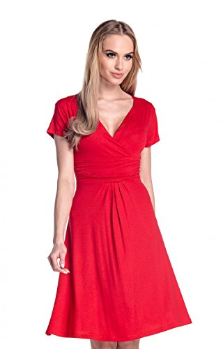 Glamour Empire Flattering Dress 108 - Patineuse - Femme Rouge
