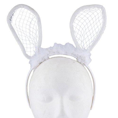 Lux Accessories Haarreif mit Hasenohren für Halloween, - Weiser Mann Kostüm Kleinkind