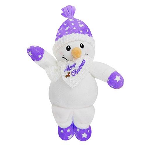 Liying Plüschtier Snowman Stofftier Spielzeug Kuscheltier Cartoon Doll Toy für Weihnachten