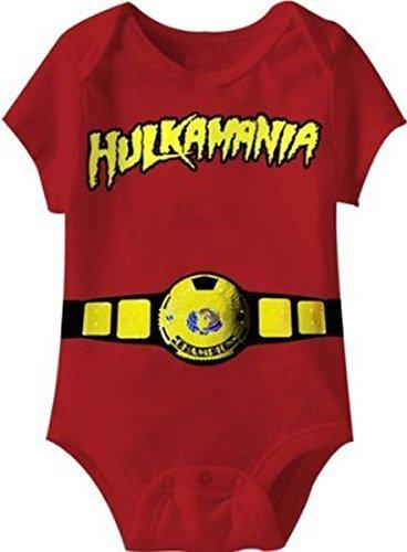 Hulkamania World Champ Kostüm rot Kleinkind Onesie Baby Strampler (12 (Kostüm Hulkamania)