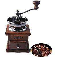 Dewel in legno anticato, Macina caffè manuale, con macina in stile Vintage per macchina caffè, Chicco & Spice