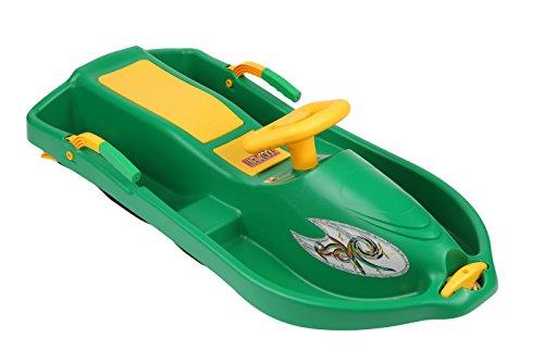 Plastkon Lenkschlitten Steerable sledges SNOW BOAT, grün, One Size, 41106600