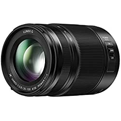 Panasonic Lumix Objectif Téléphoto pour capteur micro 4/3 35-100mm F2.8 H-HSA35100E (Grande ouverture F2.8 constante, Stabilisé, Tropicalisé, equiv. 35mm : 70-200mm) Noir - Version Française