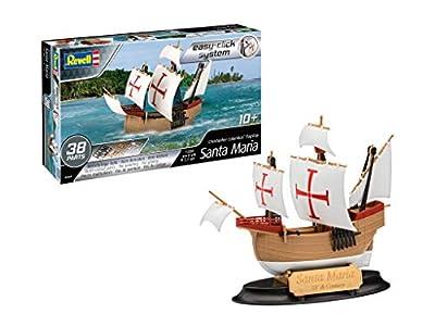 Revell Easy Click System 05660Bateau à Construire Santa Maria Christophe Colomb, échelle 1/350 Maquette, Bois