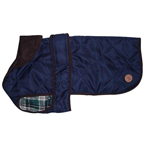 Country Pets CP286154BL Hundewintermantel Quilt, Wasserabweisend, blau, 65 cm -