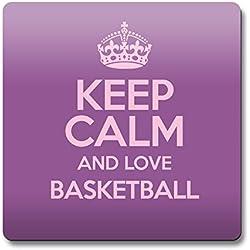 Morado KEEP CALM AND LOVE baloncesto imán color 1139