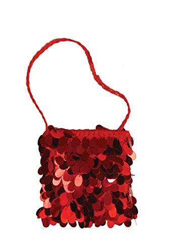 Generique - 20er-Jahre Charleston Pailletten-Handtasche rot -
