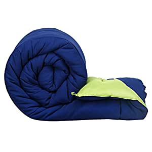 Clasiko Reversible Single Bed Big Size Comforter (Blue and Green, Micro Cotton, 300 GSM, 152 x 230 cm)