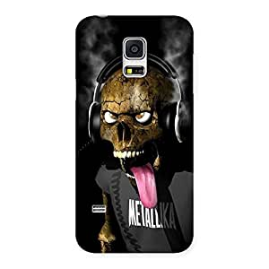 Metal Tounge Back Case Cover for Galaxy S5 Mini