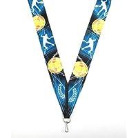 silver und bronzefarben mit Band Medaillen Medaille Metall 50mm incl Emblem gold-