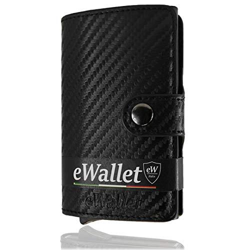 8713b06672 Porta Carte di credito, eWallet, Portafoglio, Blocco RFID, in Pelle PU, ...