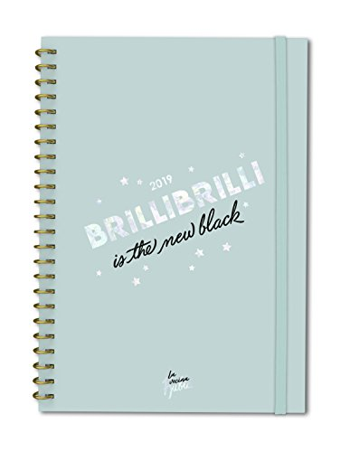 Agenda anual día/vista La Vecina Rubia 2019: Brillibrilli is the new black...