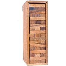 Logica Giochi art. COPROPIEDAD – Torre con piezas de madera extraíbles – piezas de madera de Teca con su caja de madera