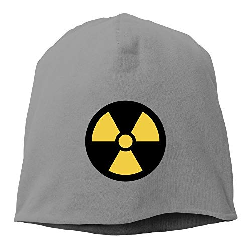 Warm Fashion Solid Color Nuclear Symbol Hedging Cap for Unisex White One Size