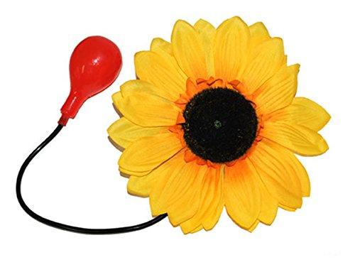 Karnevalsbud - Clown Kostüm Zubehör- wasserspritzende Blume Zirkus Clownskostüm, 22cm, Gelb (Red Joker Kostüm)