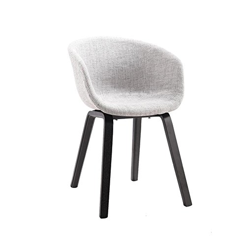 YIXINY Chaise Fauteuil Bois Massif Chaise Chaise De Bureau Chaise À Manger Confortable Coussin Tissu De Haute Qualité Moderne Loisir ( Couleur : Gris )