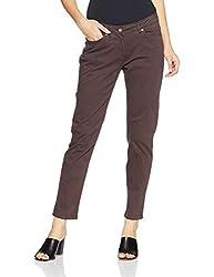 Allen Solly Womens Straight Pants (AWPN517P00470_Dark Brown Solid_30)