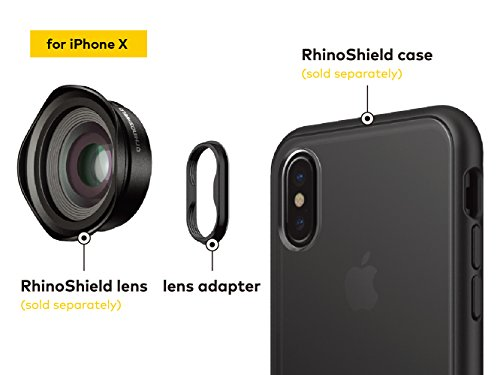 RhinoShield Add-On Lens Adapter for RhinoShield Cases for iPhone 8 / 7 [only for RhinoShield Mod, RhinoShield PlayProof and RhinoShield SolidSuit cases] - Lenses not included iPhone X Lens Adapter