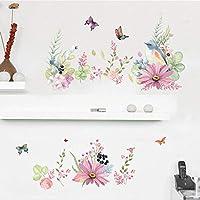 Fagreters Beautiful Flowers Birds Butterfly Wall Sticker Warm Bedroom Decor Decals Wallpaper Home Decoration Stickers