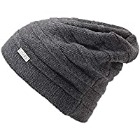 GHC Gorras y Sombreros Sombrero de Gorrita Tejida Polar de Invierno para Mujer y para Mujer (Color : Gris)