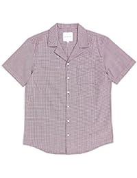 452da5957e The Idle Man Mini Check Revere Collar Shirt Pink & Black