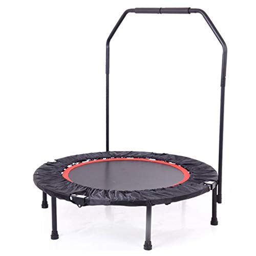 DUOER home-Gartentrampoline Mini-Trampolin mit Sicherheits-Pad, Indoor-Trampolin, Klapp-Heimtrainings-Fitness-Trampolin für Erwachsene Kinder, 40 Zoll (Color : B)