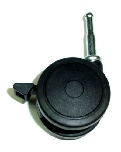 dual-wheel-swivel-caster-with-urethane-tread-and-5-16-grip-neck-stem-brake-by-pert