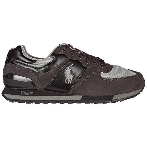 POLO RALPH LAUREN SLATON PONY NEWPORT navy scarpe uomo pelle sneakers c23411c1310