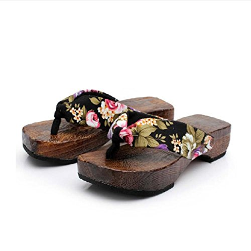 Sandalias de Mujer JiaMeng Zapatos de Plataforma de Verano de Mujer de Madera Zueco Zapatillas de Madera...