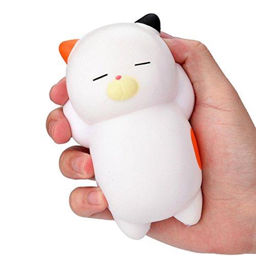 Schlafende Katze duftenden Squishy Charm Langsam steigenden Squeeze Toy Charm Stress Spielzeug Anti-Stress Dekompression Vent Toy Smash Verschiedene Stile Spielzeug Toy (White) (Die Beste Halloween Jemals)