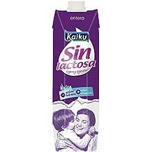 Kaiku Leche sin Lactosa Entera - Paquete de 6 x 1000 ml - Total 6000 ml