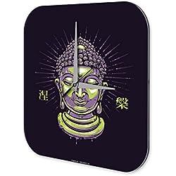 Reloj De Pared Religión Decoración Buda Plexiglas