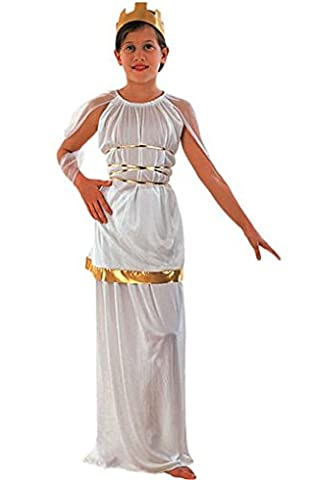 Griechisches Göttinnen-Kostüm für Mädchen 140/152 (10-12 Jahre) (Göttin Kostüm Zubehör)