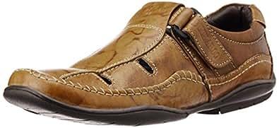 BCK (By Buckaroo) Men's Cameron Tan Leather Sandals - 11 UK