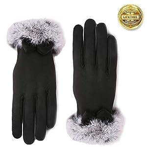 Vohoney Handschuhe Damen, Winter Handschuhe Warme Touchscreen Handschuhe Outdoor Sport Fahrradhandschuhe Winddicht…