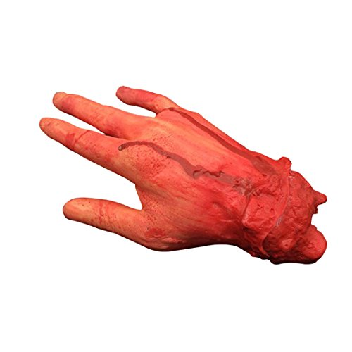 Kostüm Geek Up Make (Halloween Spielzeug Blutige Hand Abgehackte Verletzung Blut Finger gebrochenen Blutige Fake 4 Refers Scissorhands Cosplay Bloody Scary Horror Props Partei Dekoration Decorazione Fear Haunted Toy Party Halloween Ghost Körper)