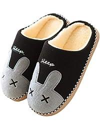 331cb4b35eea6 Cliont Mignon Chat Pantoufles Pantoufles Intérieur Anti Slip Chaussures  pour Les Femmes Et Les Hommes