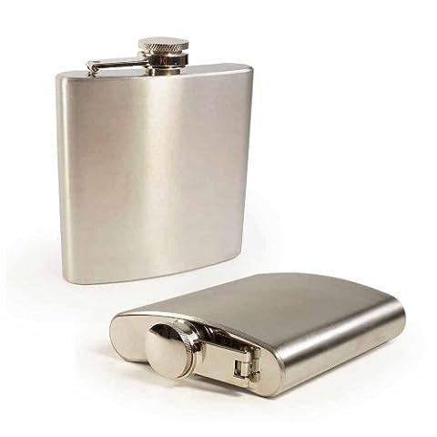 Tuff-Luv Evolve Hip Flask 6oz Brushed Steel [I13_1]