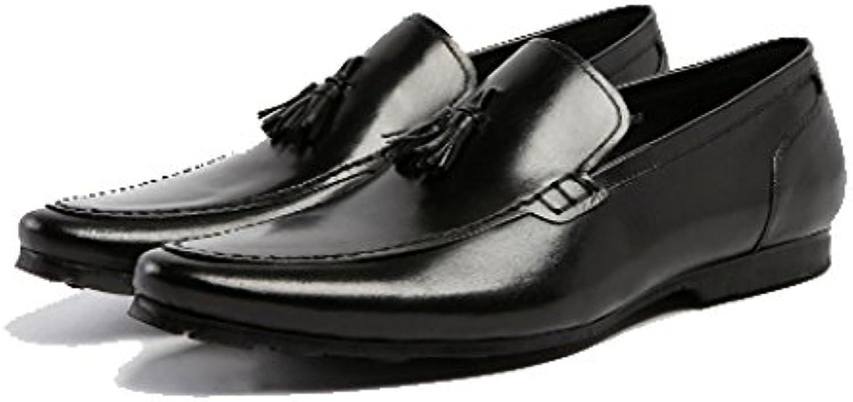 Zapatos De Inglaterra, Juegos De Zapatos, Zapatos De Cuero para Hombres, Exquisitos, Borlas, Fondo Blando, Ligero... -