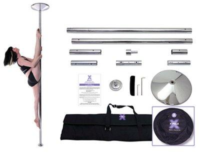 X Pole XPert Chrom - Fest Und Drehend - Professionelles Stangentanz Set (40mm Durchmesser)