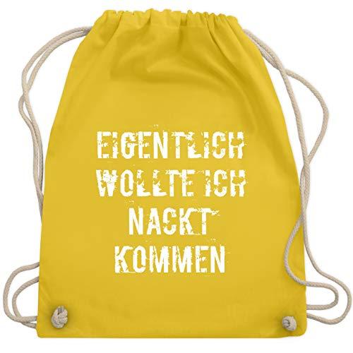 Halloween - Eigentlich wollte ich nackt kommen - Unisize - Gelb - WM110 - Turnbeutel & Gym Bag