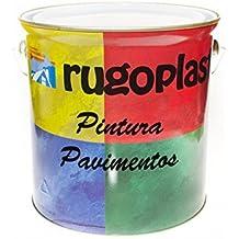 Pintura monocomponente para suelos y garajes ( hormigón, morteros de cemento y derivados ) al clorocaucho alta dureza varios colores (4L, Gris) Envío GRATIS