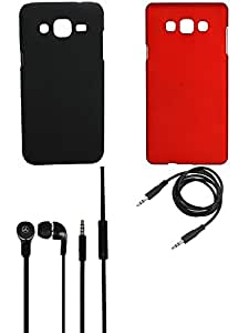 NIROSHA Cover Case Headphone for Samsung Galaxy ON7 - Combo