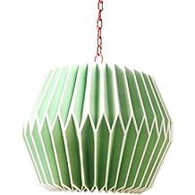 Suspension origami en papier vert