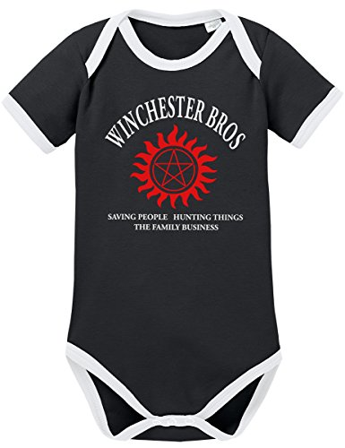 TSP Winchester Bros - The Family Business Kontrast Baby Body 74 Schwarz