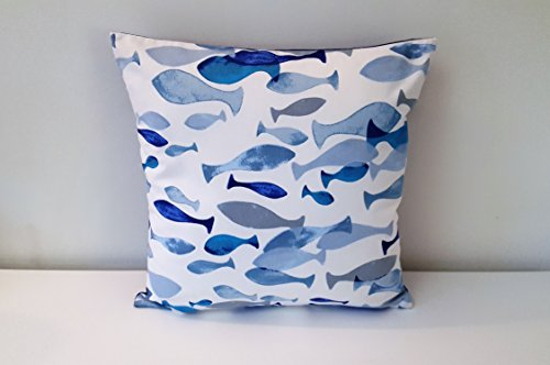 handmade-decorative-ocean-fish-cushion-cover-35cm-x-50cm-14-x-20-and-45cm-x-45cm-18-x-18-navy-blue