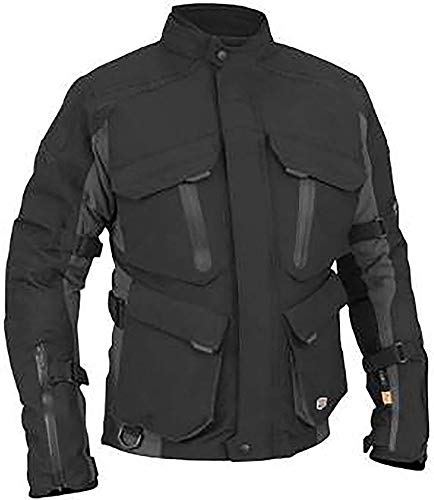 Stilvolle Motorradjacke textilien Motorrad Jacke Cordura Motorcycle Jacket, XXL, Black