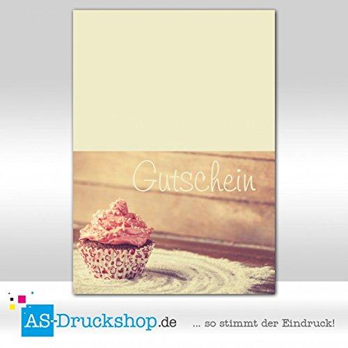 Gutschein Bäckerei Cupcake / 25 Stück/DIN A6