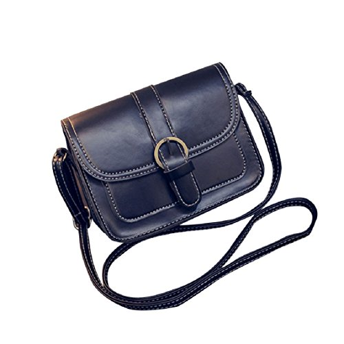 Transer Women Shoulder Bag Popular Girls Hand Bag Ladies PU Leather Handbag, Borsa a spalla donna 19cm(L)*14(H)*7cm(W), Black (Multicolore) - YLL60909521 Black