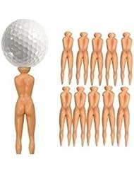 ULOOIE 10pcs Ladies Golf tees nuddie desnuda golfistas pelota Tees